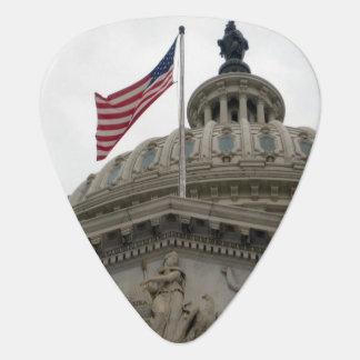 Bâtiment de capitol des USA avec le drapeau Onglet De Guitare