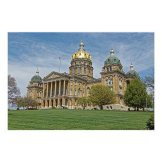 Bâtiment de capitol d'état de l'Iowa Impression Photo