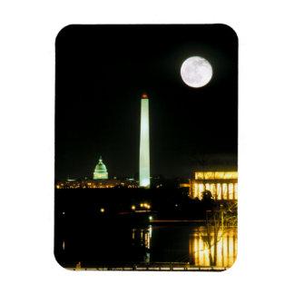 Bâtiment de capitol, le Lincoln Memorial, Washingt Magnet Souple