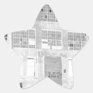 Bâtiment de fabrication abandonné - négatif autocollants en étoile