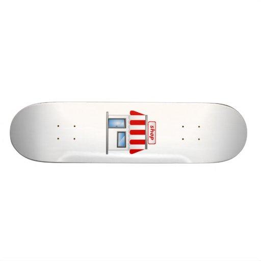 Bâtiment de magasin skateboard