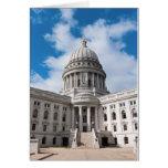 Bâtiment et entrée de capitol d'état du Wisconsin Carte De Vœux