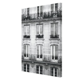 Bâtiment vintage noir et blanc du voyage | à Paris Toiles