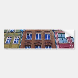 Bâtiments colorés à Danzig Danzig, Pologne Autocollant Pour Voiture