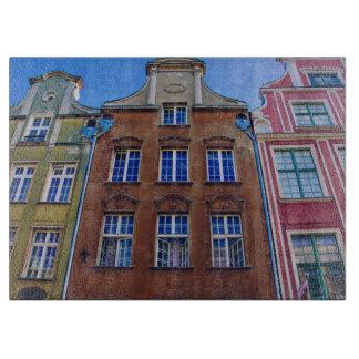 Bâtiments colorés à Danzig Danzig Pologne Planches À Trancher