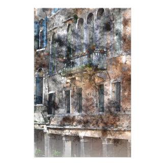Bâtiments de Venise Italie Motifs Pour Papier À Lettre