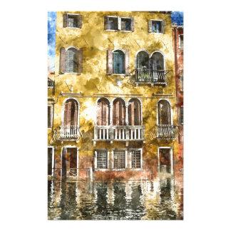 Bâtiments de Venise Italie Papier À Lettre Customisé