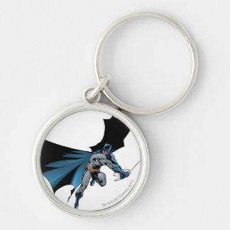 Batman balance avec la corde porte-clé rond argenté