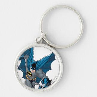 Batman balance de la corde porte-clé rond argenté