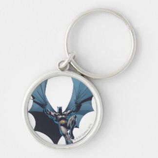 Batman - corde embrouillée porte-clé rond argenté