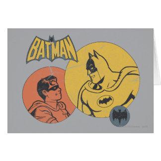 Batman et graphique de Robin - affligé Carte De Vœux