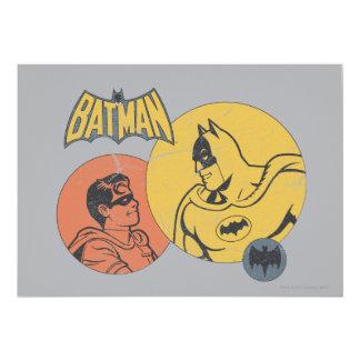 Batman et graphique de Robin - affligé Carton D'invitation 12,7 Cm X 17,78 Cm