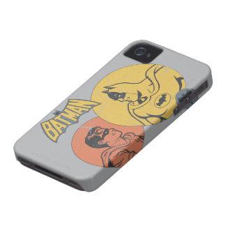 Batman et graphique de Robin - affligé Coques Case-Mate iPhone 4