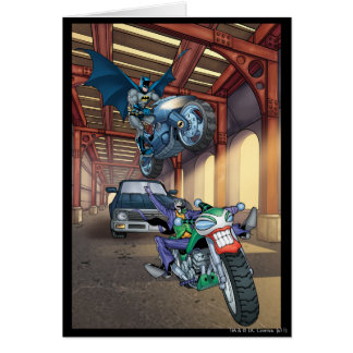 Batman et joker - motos d'équitation cartes