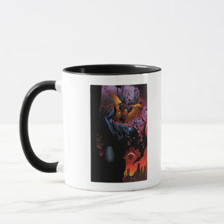 Batman et vol de Robin au-dessus de Gotham Mug