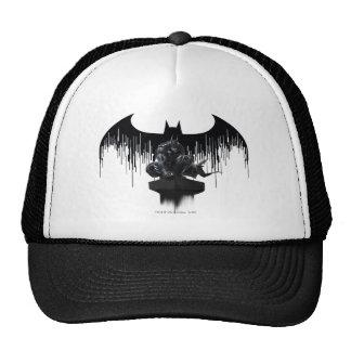 Batman était perché sur un pilier casquettes
