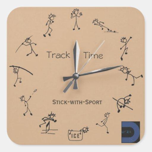 Bâton avec l'autocollant d'horloge de sport