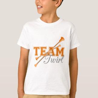 Bâton de pirouette d'équipe t-shirt