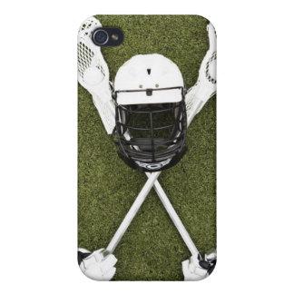 Bâtons de lacrosse, gants, boules et casque de spo étui iPhone 4