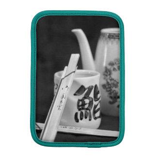 Bâtons et tasse orientaux de côtelette housse pour iPad mini