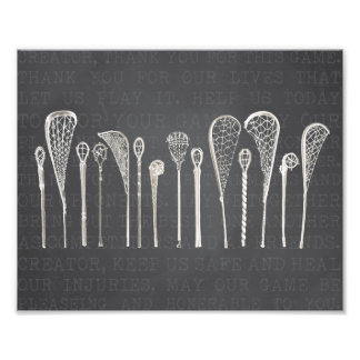 Bâtons vintages de lacrosse impression photo