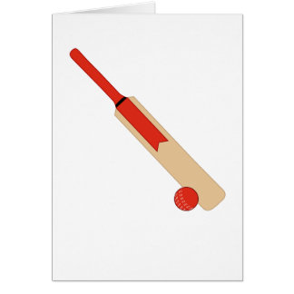 Batte de cricket et carte de boule