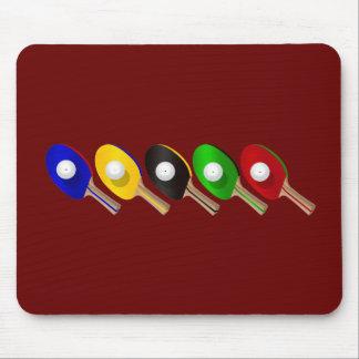 Batte de ping-pong et sports de boule de ping-pong tapis de souris