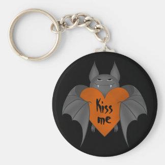Batte de vampire amoureuse drôle de Halloween Porte-clés