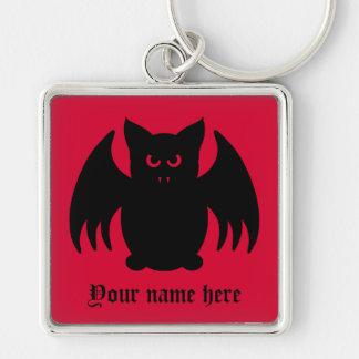 Batte de vampire noire gothique mignonne porte-clés