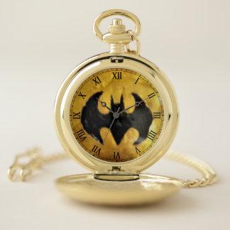 Batte d'Erie sur la montre de poche d'or