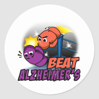 Battement Alzheimer Sticker Rond
