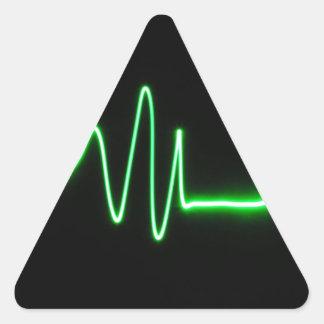 Battement de coeur stickers en triangle
