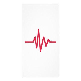 Battement de coeur d impulsion de fréquence photocarte customisée