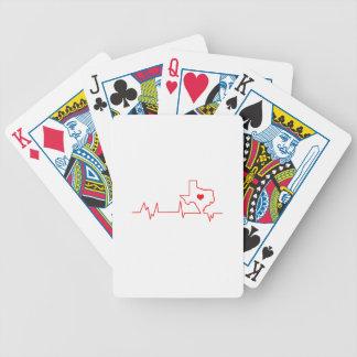 Battement de coeur du Texas Cartes À Jouer