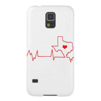 Battement de coeur du Texas Coques Pour Galaxy S5