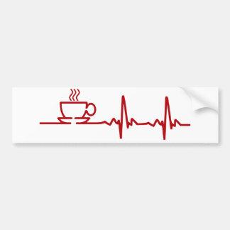 Battement de coeur ECG de café de matin Autocollant Pour Voiture