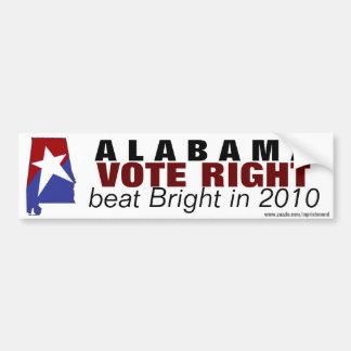 Battement de droite de vote de l'Alabama lumineux Adhésifs Pour Voiture