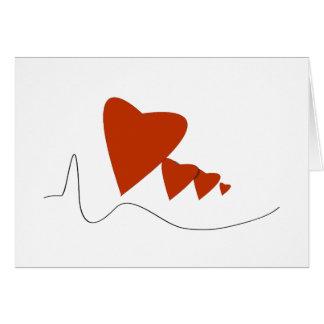 Battements de coeur - carte de note -