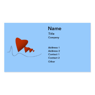 Battements de coeur carte de visite standard