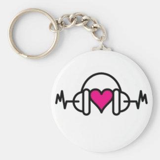 Battements de coeur rose de l'amour   avec porte-clés