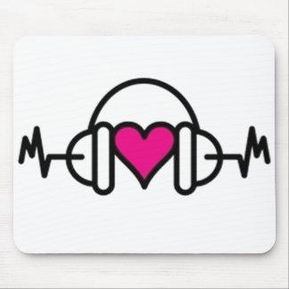 Battements de coeur rose de l'amour | avec tapis de souris