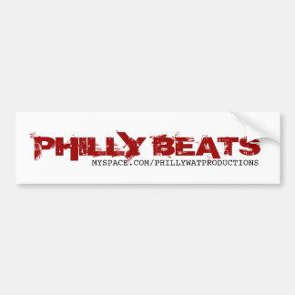 BATTEMENTS de PHILLY, MYSPACE.COM/PHILLYWATPRODUCT Autocollant Pour Voiture