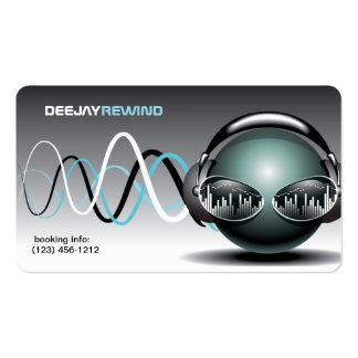 Battements fous - cartes de visite du DJ Carte De Visite Standard