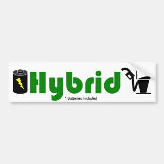 Batterie et pompe HYBRIDES vertes Autocollant Pour Voiture