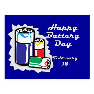 Batterie jour 18 février carte postale