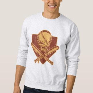 Battes de crâne et de croix de base-ball sweatshirt