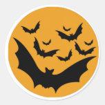 Battes de Halloween Adhésifs Ronds