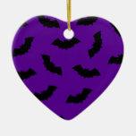 Battes de Halloween Ornement Cœur En Céramique