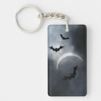 Battes éffrayantes de Halloween dans l'éclipse Porte-clefs