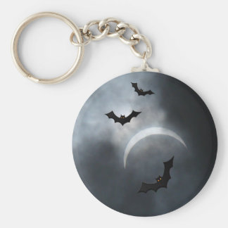 Battes éffrayantes de Halloween dans l'éclipse Porte-clés